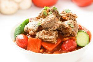 zdrowe danie warzywno-mięsne
