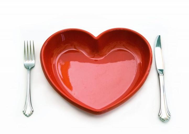 talerzyk w kształcie serca